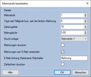 Mahnwesen Mauve System3 Handbuch